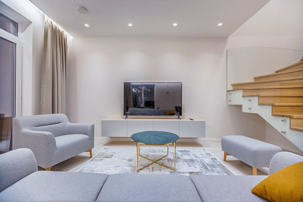 bozeman living room minimal staging   staging your home for a quick sale