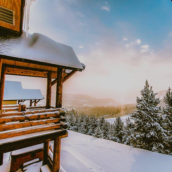 cabin in big sky montana